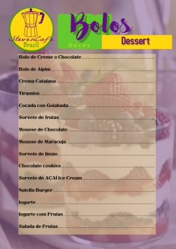 Copy of Fancy Menu Card Template
